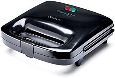 Ariete 1982 - Sandwichera compacta, 750 W, color negro