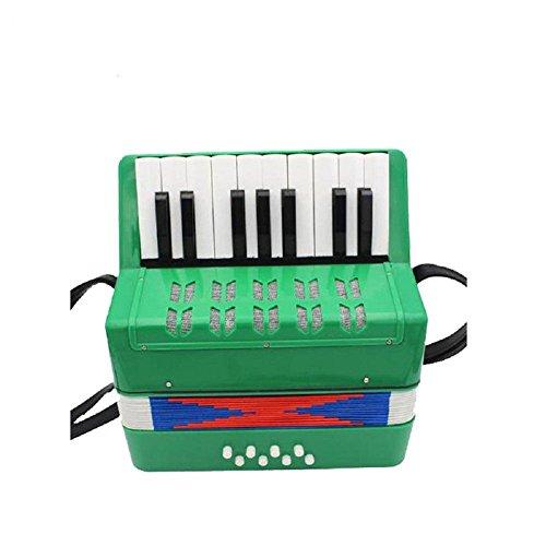 Akkordeon für Kinder, AKAUFENG Ziehharmonika Tasteninstrument für Musiker Anfänger 7 Farben 17 Tasten für die verschiedensten Melodien