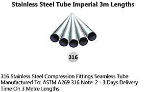 OD 6 mm X 1 mm-Tube en acier inoxydable 316L