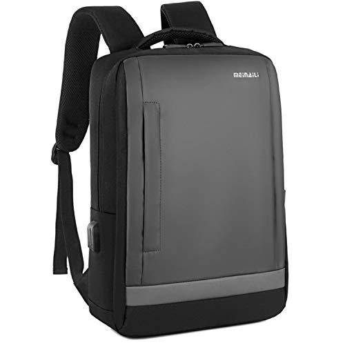 Ghosthunter Backpacks Zaino multifunzionale da uomo da lavoro, con batteria di ricarica USB, Grigio (Grey), Taglia unica