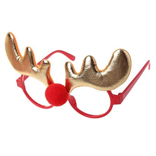 Weihnachtsschmuck Glasrahmen Dekor Abend Party Spielzeug Kinder Kaninchen Geschenke