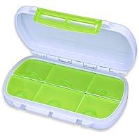 Preisvergleich für wuudi tragbar Box wöchentlich Travel Medikamenten Tragetasche Täglich Pille Organizer Container Mit 6Fächer
