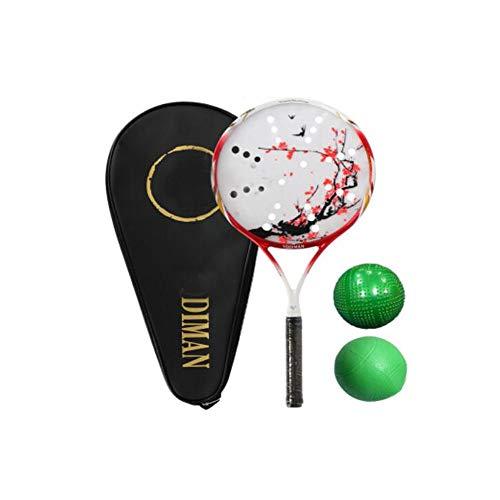 Gaoxingbianlidian001 Federballschläger, geeignet für Outdoor-Sport und Fitness-Schläger, Carbonschläger Tai Chi Schlägerset, Farbe, rot,Erhöhen Sie die Schlagfläche (Color : Red, Size : 47 * 22.5Cm)