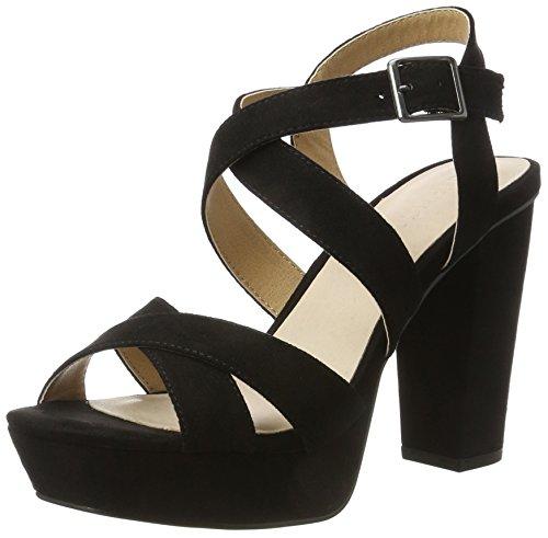 Bianco Blockabsatz Sandalen, schwarz, Black