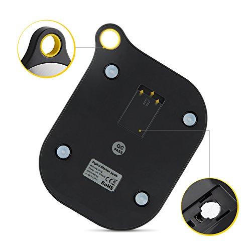 SIMBR Waage Küchenwaage mit Aufhänger und Tara-Funktion hohe Präzision von 2g bis 5kg inkl. Batterie - 3