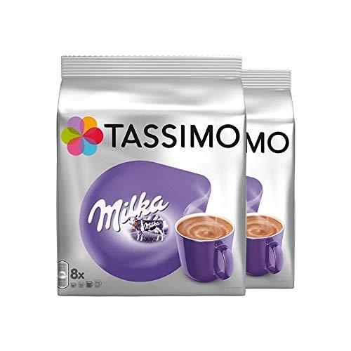 Tassimo Milka Kakao-Spezialität, Schokolade, Kapsel, 2er Pack, 2 x 8T-Discs (16 Portionen)