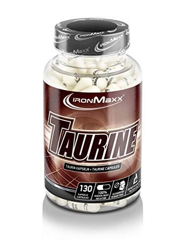IronMaxx Taurin Kapseln Pre Workout Booster - Unterstützt Muskelaufbau, Muskelerhalt & liefert Energie - 1 x 130 Kapseln