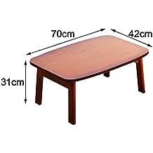Mesa de madera Escritorio de la computadora Cama Plegable Lazy Notebook portátil Pequeña cama de escritorio Mesas para ordenador ( Tamaño : 70*42*31cm )