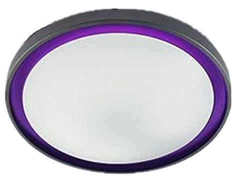 XXFFH Glühlampen Leuchtstofflampe Licht Fyn Led Deckenleuchte Für Wohnzimmer Schlafzimmer Küche Durchmesser 45Cm 23W Lila Blau Orange Energieklasse A ++ , Purple