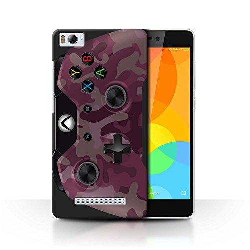 Stuff4® Hülle/Case für Xiaomi Mi 4i / Rosa Tarnung Muster/Videogamer/Xbox One Kollektion
