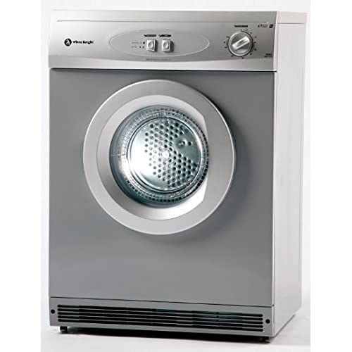 411x4gjNNuL. SS500  - White Knight WK44AS Large Reverse Action Vented Tumble Dryer in Silver