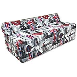 Matelas pliant sofa pour adultes et enfants, choix des couleurs 200 cm de long (LONDON)