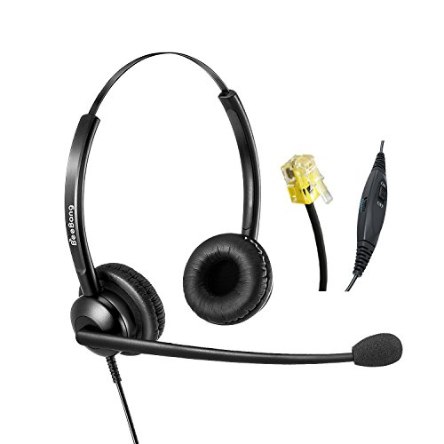 Binaural Telefon Headset Cisco IP Telefon Headset RJ9 mit Noise Cancelling Mikrofon Nur für Cisco IP Telefon