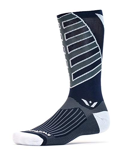 Swiftwick-Vision Team Acht, hoch Crew Kompression Socken für Team Sport, Herren, Navy -