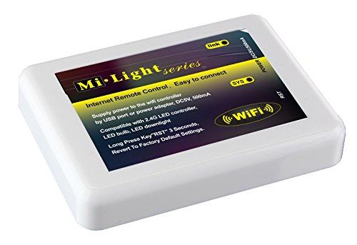 Preisvergleich Produktbild 2,4Ghz WiFi LED Kontrolleinrichtung als kabelloser Dimmer für Mi-Lampen Serie RGB RGBW LED Leuchten iOS 5.0 iPhone iPad Samsung HTC Smartphone Tablet Kontrolle