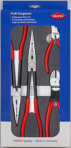 """KNIPEX 00 20 01 V16 Zangen-Set \""""KFZ\"""" in Schaumstoffeinlage"""