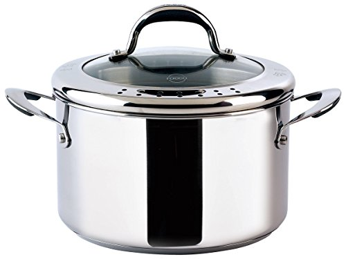 Meyer Select Stainless Steel 24cm Stockpot with Lid - 6.2L, Silver