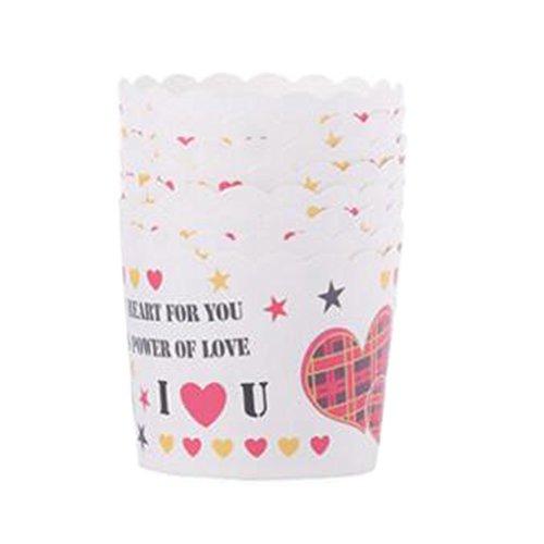 Blancho 96 PCS Tasse de Cupcake de papier de cuisson, Tasse de moule de cupcakes créative #21