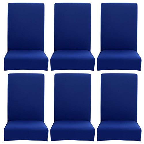 Demiawaking coprisedie con schienale elasticizzato sottile semplice tinta unita vestisedia universale fodere per sedie copertura della sedia casa hotel