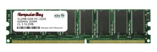 Komputerbay 512MB DDR DIMM (184 pin) 400Mhz PC 3200 Low Density 512 MB -