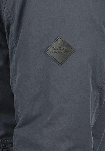 BLEND Marc Herren Winterjacke Bomber-Jacke mit Kapuze aus hochwertigem Material Ebony Grey (75111)