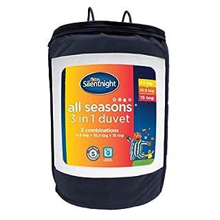 Silentnight 3 Combinations All Seasons Duvet Cover, Hollow Fibre, White, Double