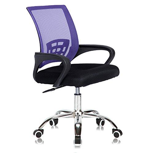 ShJttt-chair or stool Bürostuhl Verstellbare Mesh Swivel Home Office Stühle Low Back Computer Schreibtisch Stuhl für die Arbeit, Lila