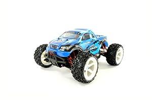 Amewi 22048 Monstertruck Brutal Pro - Todoterreno teledirigido (Escala 1:16, tracción en Las 4 Ruedas, Motor sin escobillas, Listo para su Uso)