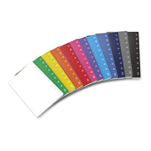 Pigna monocromo 02298871r, quaderno formato a4, rigatura 1r, righe per medie e superiori, carta 80g/mq, pacco da 10 pezzi