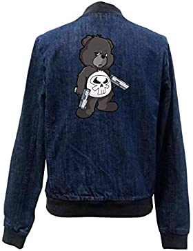 Punisher Bear Bomber Chaqueta Girls Jeans Certified Freak