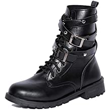 Damen Schuhe DEELIN Damen Sommer Elegant Soft Flat Ankle Martin Shoes Female Leather Lace-Up Boots