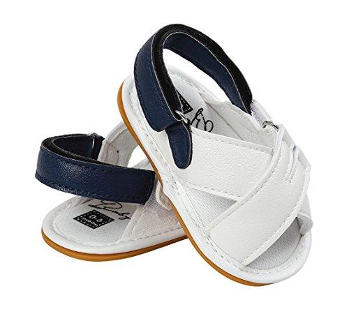 EOZY Baby Jungen Schuhe Mädchen Sandalen Lauflernschuhe Sneakers 0-18 Monate Weiß