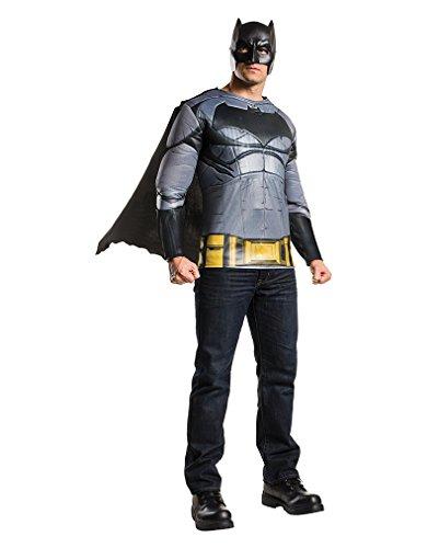 Batman v Superman Batman Kostüm-Shirt mit Umhang & Maske One (Über Superman Kostüm)