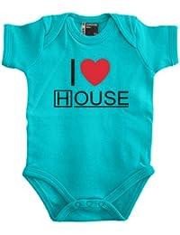 I Love House Babybody 56 - 80 div. Farben