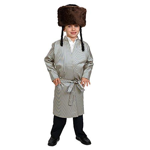 Kostüm Rabbi Kinder - Dress Up America Striped Yerushalmi Chasidic Bekitcha Kostüm jüdischen Rabbi Outfit für Kinder