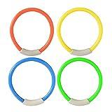 Tree-on-Life 4Pcs / Set Dive Ring Accessori per Piscine Accessori per Il Nuoto Compatibile per i Bambini Giochi Acquatici Immersioni Sport Beach Summer Toy