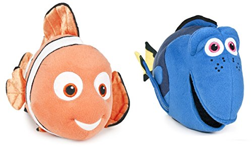 """Alla ricerca di Dory - Pack Coppia 2 peluches Nemo e Dory 12""""/30cm - Qualità Velboa - Nuovo Film 2016"""