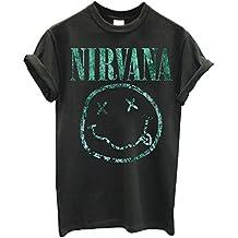 Herren-T-shirt Nirvana - Light Green Texture 100% bauwolle LaMAGLIERIA
