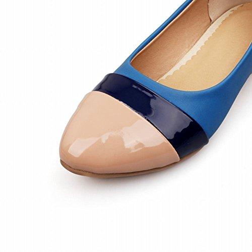 Mee Shoes Damen bequem süß populär Niedrig Keilabsatz mehrfarbig Geschlossen Pumps Aprikose