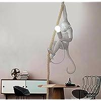 Lámpara de techo nórdica, creativa, de acrílico, cuerda de cáñamo, lámpara de araña LED, para restaurante, dormitorio, estudio, 72cm de alto, bombilla E27(no Incluida)