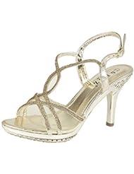 Mujer Diamante Boda Prom Fiesta Sandalias Zapatos de noche Mujer Tacón Alto Tamaño