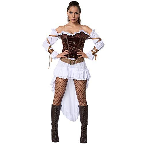dressforfun 900487 - Costume Donna Adulti Guardia Femminile di Palazzo Steampunk, Abito in Raso di diversa Lunghezza (S | No. 302315)