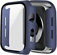 ONMROAD Protective Case Compatible with Apple Watch Series 6/SE Series 5/4 44mm with Tempered Glass Screen Pro