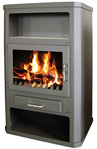 Estufa de leña 29kW caldera integral calefacción superficie 165M2de combustible sólido