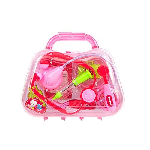 TrifyCore Durable Kinder Arzt Kit Arzt Ausrüstung Doktor Pretend Play Werkzeuge für Kleinkinder Kostüm Doktor Rollenspiele Schule Klassenzimmer pädagogisches Spielzeug Rosa 1Set