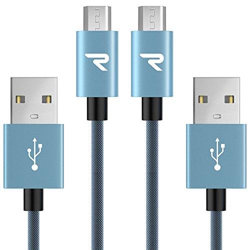 Cable Micro USB Carga Rápida 3.3 pies / 1m [ 2-unidades ] Rampow® GA
