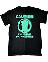 123t Men's - GLOW IN THE DARK SOUND-LEVEL - Loose Fit T-shirt