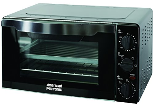 American Micronic 18 Litre Imported Oven Toaster Griller (OTG) with Double glass door, Free Baking Tray & Wire Rack- AMI-OTG-18LDx