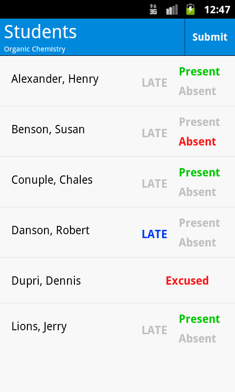 Student attendance app android
