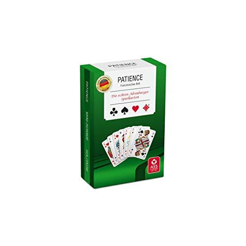 ASS Altenburger 22570093 Patience, französisches Bild, 2 x 55 Karten im Format 43,5 x 67,5 mm + Spielregeln in umweltfreundlicher Stülpschachtel